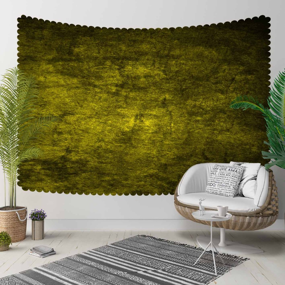 Else Yellow Vintage Abstract Watercolor Aging Shine 3D Print Decorative Hippi Bohemian Wall Hanging Landscape Tapestry Wall Art