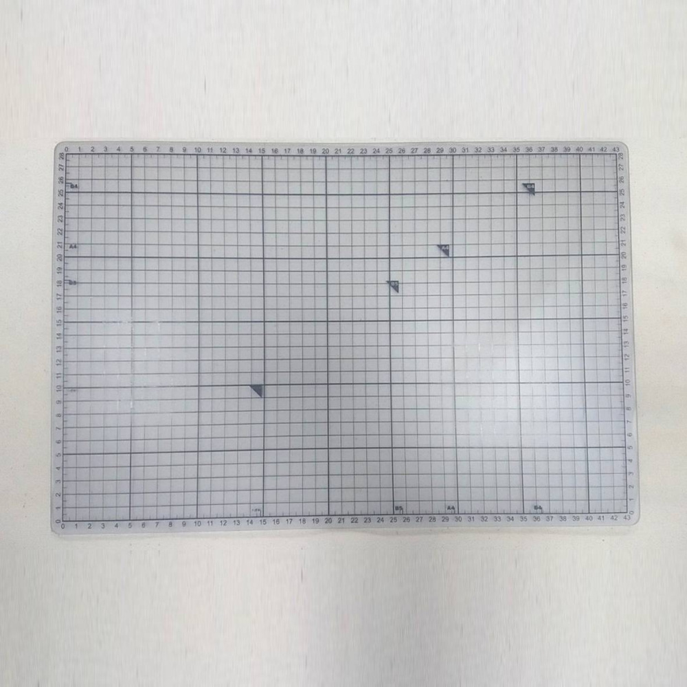 White Grey Transparent With Paper Marking Self Healing PVC Or TPE Cutting Mat A3 45x30 Cm 18x12 Inches