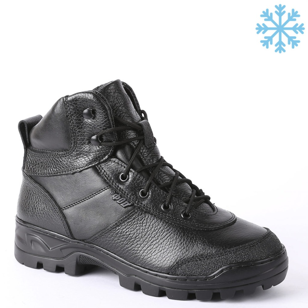 winter man ankle boots with fur military army shoes high quality fabric and rubber casual shoes 0060/1 ZA