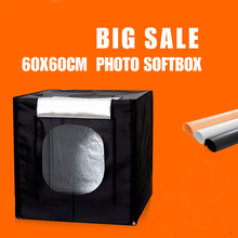 60X60X60CM Photo Box Dimmbale Led Lightbox Photography Softbox Light Rent Studio + Portable Bag + Dimmer Switch AC adapter