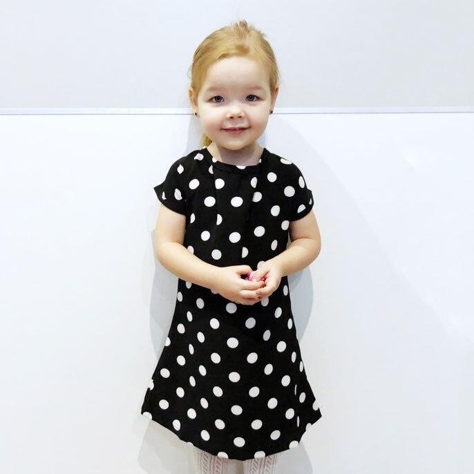 2950b4092d284 MESOLO 2018 Casual Girls Dresses Girls Polka Dot Dresses