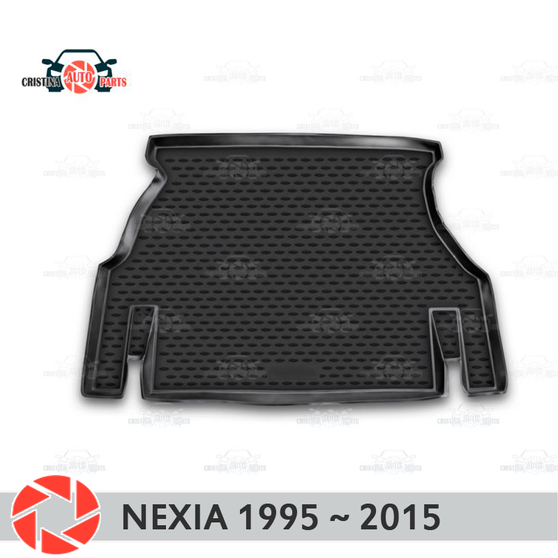 Trunk mat forDaewoo Nexia 1995~2015 trunk floor rugs non slip polyurethane dirt protection interior trunk car styling|Floor Mats| |  - title=