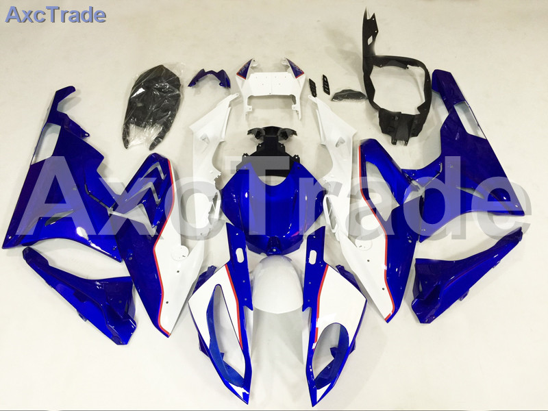 Motorcycle Fairings Kits For BMW S1000RR S1000 2015 2016 15 16 ABS Plastic Injection Fairing Bodywork Kit Blue White A456 motorcycle blue bodywork kit fairing for bmw s1000rr s 1000 rr s 1000rr 2015 15 injection mold fairings cowl set uv painted
