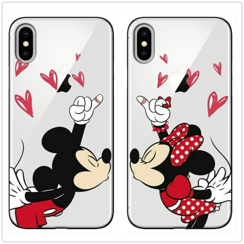 Stitch couple soft silicone Case for iPhone 5 5S SE 6 s 6S X 7 8 Plus 6Plus XR XS MAX in Phone Pouches from Cellphones Telecommunications