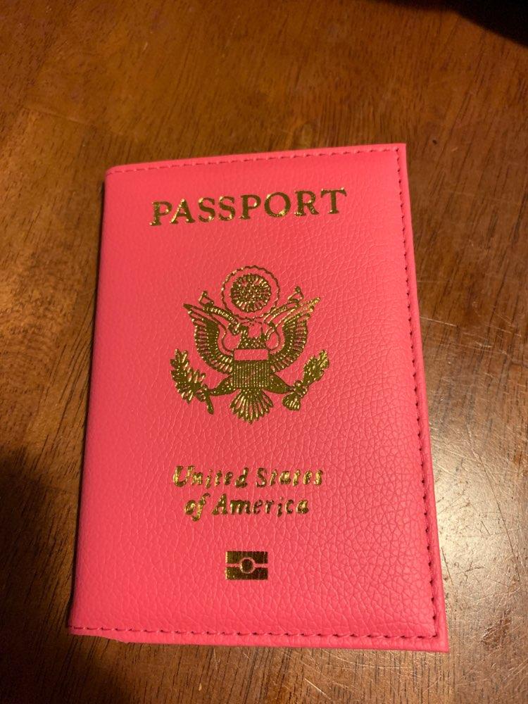 Cute USA Passport Cover Women Pink Travel Passport Holder American Covers for passport Girls Case Pouch Pasport photo review