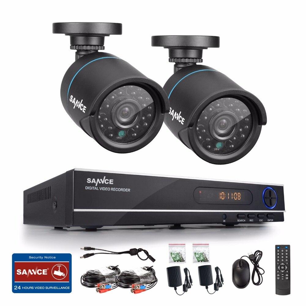 bilder für SANNCE Neue 1080N HD hohe auflösung 8CH CCTV Video security system 2 stücke micro kamera survelliance kit ir wasserdicht