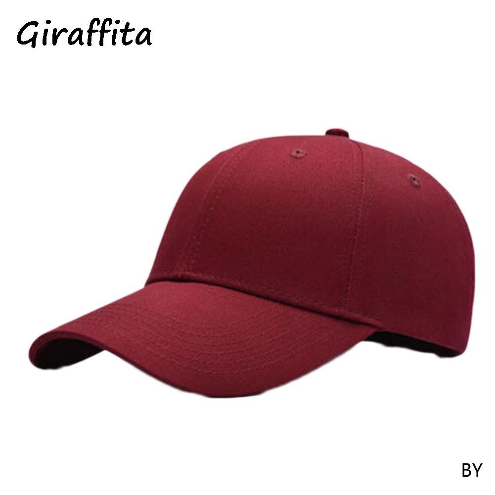 Giraffita Summer Style Soild Color   Baseball     Caps   Men Women's Red Breathable Team Hat