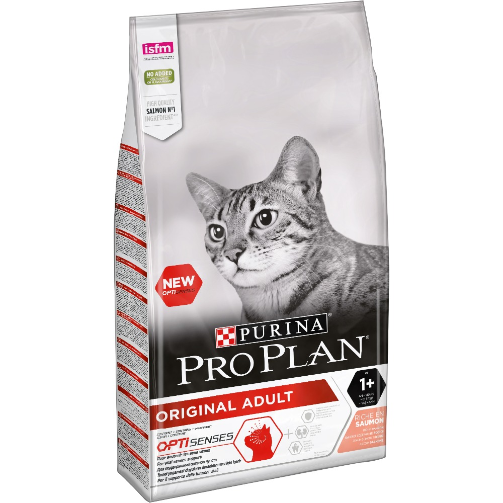 Dry food Pro Plan for adult cats from 1 year, with salmon, Package, 10 kg