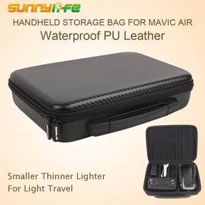 Image 1 - SUNNYLIFE Mavic HAVA Su Geçirmez Taşıma Çantası Kutusu PU Deri Oxford saklama çantası Çanta DJI Mavic Hava Için Taşınabilir Bavul