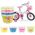 Велосипедная корзина Передняя сумка задняя подвеска корзина для велосипеда бант передняя корзина для детей Подарки для девочек аксессуары для велоспорта - фото