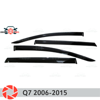 Window deflector for Audi Q7 2006-2015 rain deflector dirt protection car styling decoration accessories molding