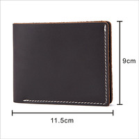 Men Wallet 100 Genuine Leather Slim Simplicity Vintage Short Wallet Personality Purse With Zipper Coin Pocket