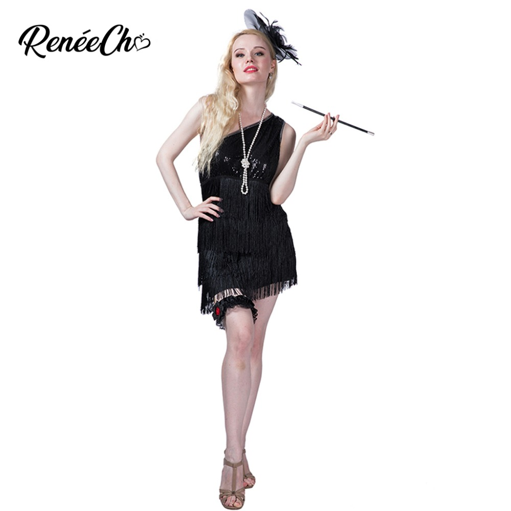 04a2ab42648 Detail Feedback Questions about Halloween costume for Women Fringe Dazzling  Flapper Costume black swing girl cosplay women sexy sequin disco dance  dress on ...