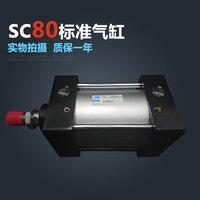 SC80 * 400 Бесплатная доставка Стандартный Воздушные цилиндры клапан 80 мм диаметр 400 мм ход SC80 400 одинарный стержень пневматический цилиндр двой