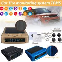 Smart Wireless Car Tire Monitoring System TPMS Pressure Monitoring Auto Security Alarm Systems Digital LCD Display