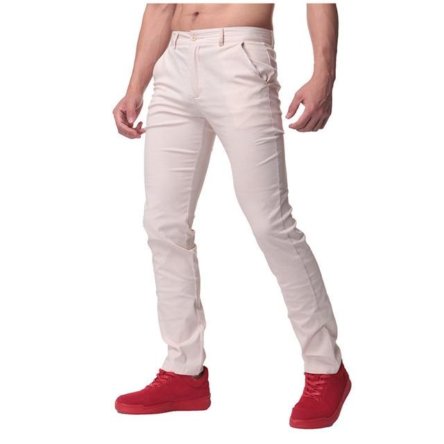 100Cotone Casual Diritti Dei Pantaloni 2018 Mens tCsQrdh