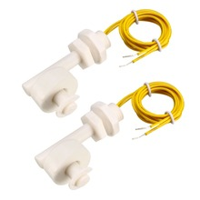 UXCELL 2Pcs PP Float Switches M12 40mm Fish Tank Liquid Water Level Sensor Right Angle Plastic White Switch To Chemical Drainage [[sa]used midori cpp 35 500 europe biaxial conductive plastic potentiometer angle sensor 1pcs