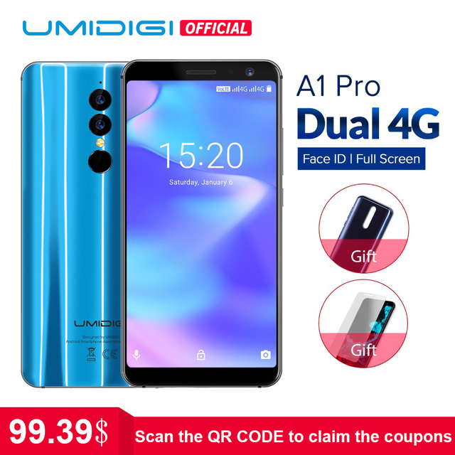 Umidigi A1 Pro Global Version Dual 4G LET Smartphone 18:9 Full Screen 3GB+