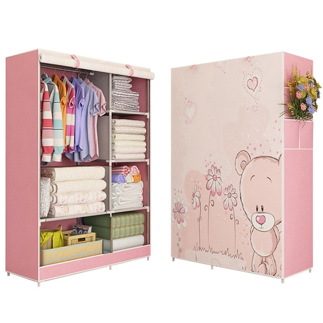 Clothes Wardrobe Furniture Storage Cabinet Foldable Closet Wardrobes Large Capacity Diy Cabinets