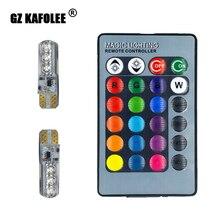 Kakolee T10 LED w5w  RGB Mit Fernbedienung LED car interior 194automatic reading lights remote control 12v