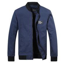 цена на Summer Autumn Mens Jacket Stand Collar Windbreaker Male Blue Baseball Jackets Casual Thin High Quality Size M-4XL 2018 New Coat