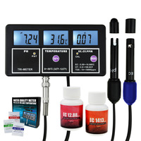 5 in 1 Water Quality Multi parameter PH EC CF TDS(ppm) Temperature Test Meter Aquariums Hydroponics Pool Fish Tank Pond Drinking