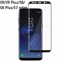 100pcs For Samsung Galaxy S8 Plus Protective film Coverage Tempered Glass For Samsung Galaxy Note8 S9 Plus Screen protector film