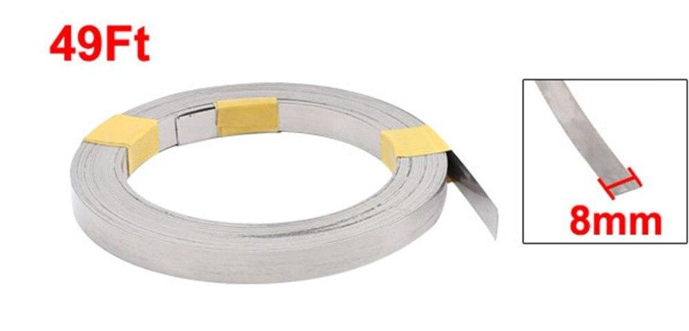UXCELL 15 м 49Ft 0,2x8 мм нихромовый плоский нагревательный провод для нагревательных элементов Электрические Провода кабели для высокотемператур...