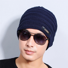 Men Women Winter Fashion Solid Color Beanie Skull Cap Baggy Warm Knitted Hat