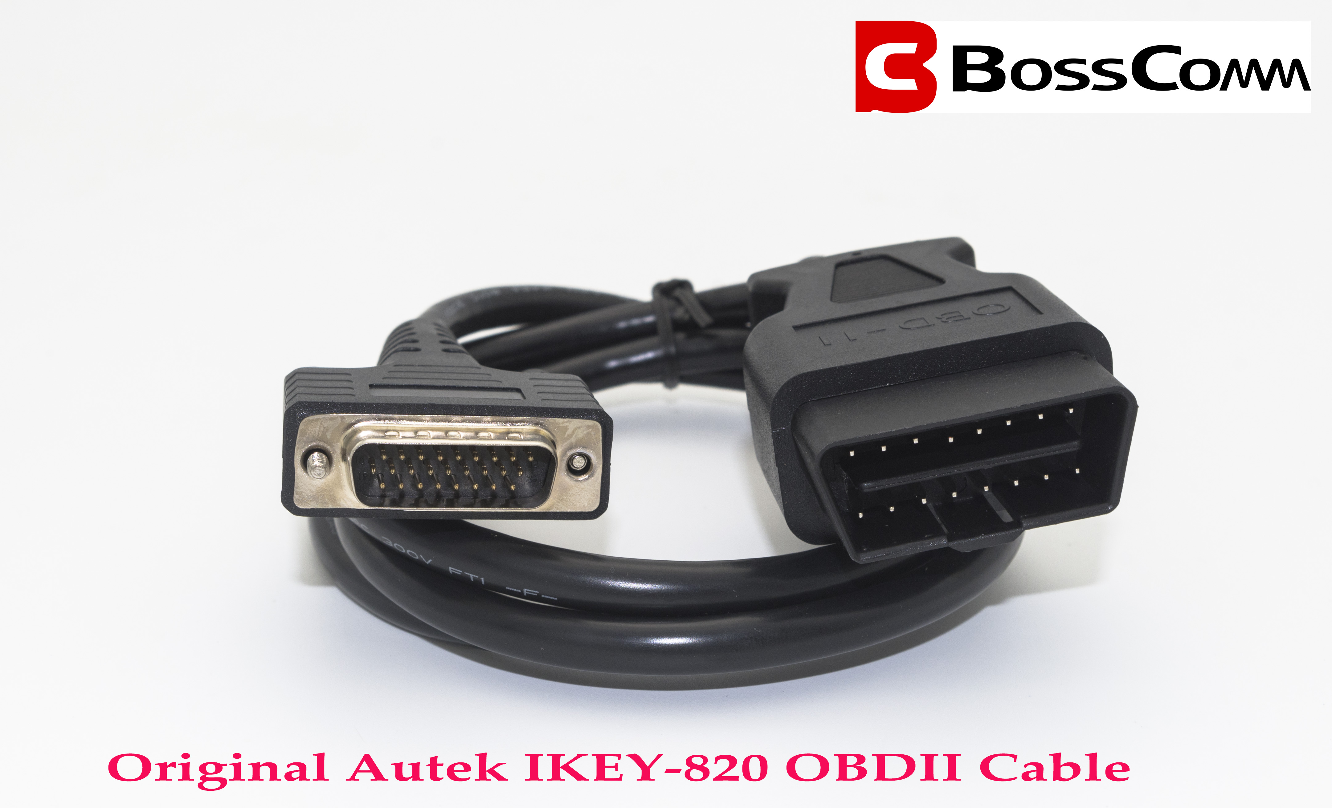 Image 3 - AUTEK IKEY820 Car Key Programemr Main Cord OBD2 cable BossComm Original tool shipping free in stock