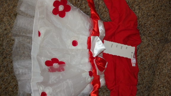Cute Long-Sleeved Floral Baby Girl's Dress photo review