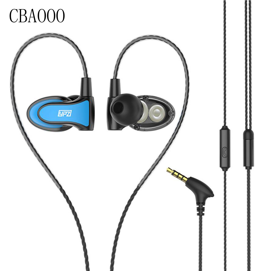 Double Unit Drive Hifi Stereo Earphones With Mic Bass Sports Headset Earbuds Earphone For Phone Music MP3 Airpods edifier p180 earphone with mic bass stereo headset hands free wired control earpiece hifi earbuds for smartphones