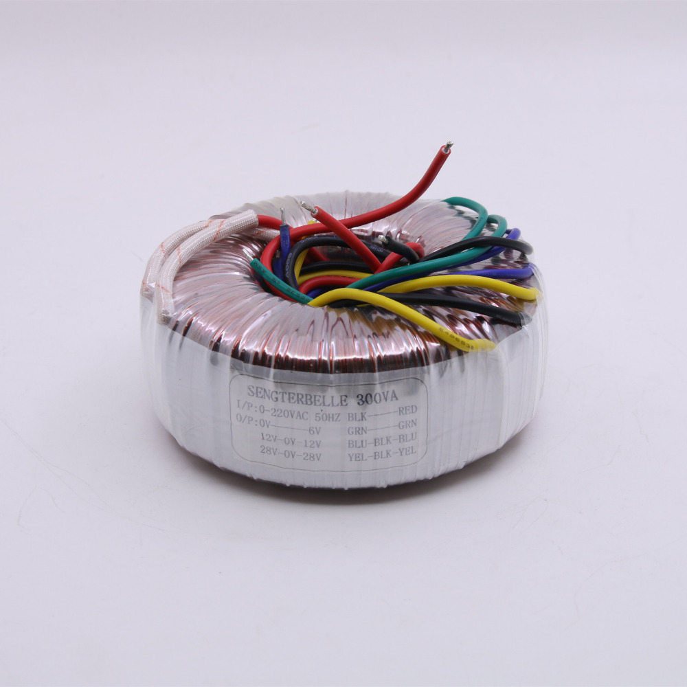 Pure Copper 300W Toroidal Transformer 230VAC 28V 0 28V 12V 0 12V + 6 V Audio Power Amplifier Transformer