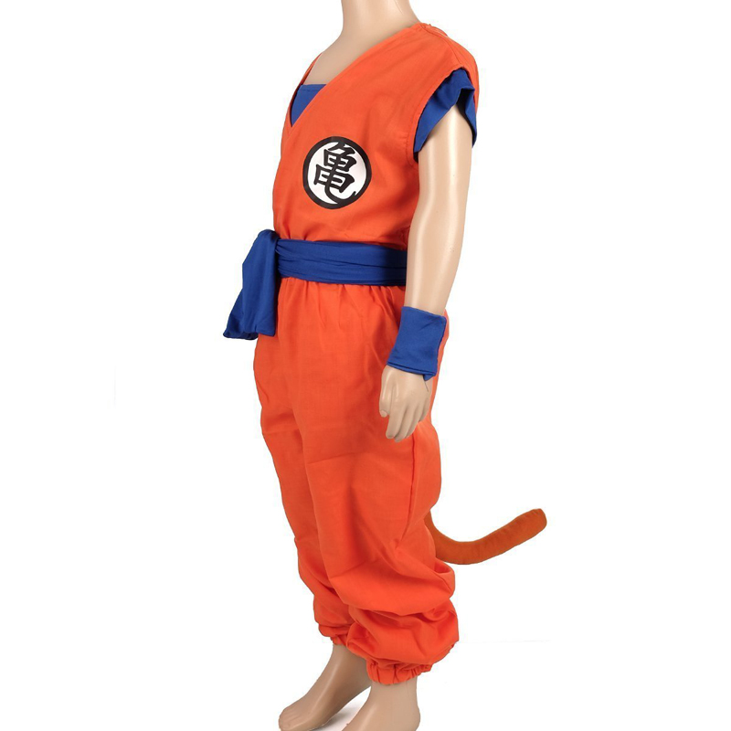 Anime Cosplay DRAGON BALL Son Goku Children Cosplay Costumes kids European size Free Shipping in Boys Costumes from Novelty Special Use