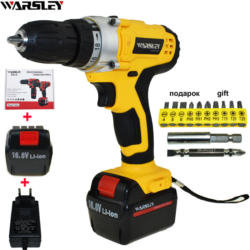 16.8V Power Tools Electric Drill Cordless Drill Electric Electric Screwdriver Batteries Screwdriver Mini Drill Drilling Eu Plug free shipping brand proskit upt 32007d frequency modulated electric screwdriver 2 electric screwdriver bit 900 1300rpm tools