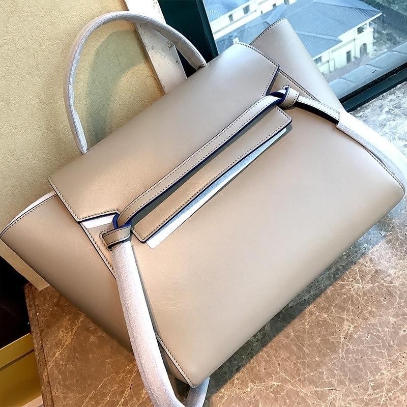 LUYO Trapeze Catfish Genuine Leather Luxury Handbags Women Shoulder Bags Designer Famous Brands Tote Bag Female Black Fashion