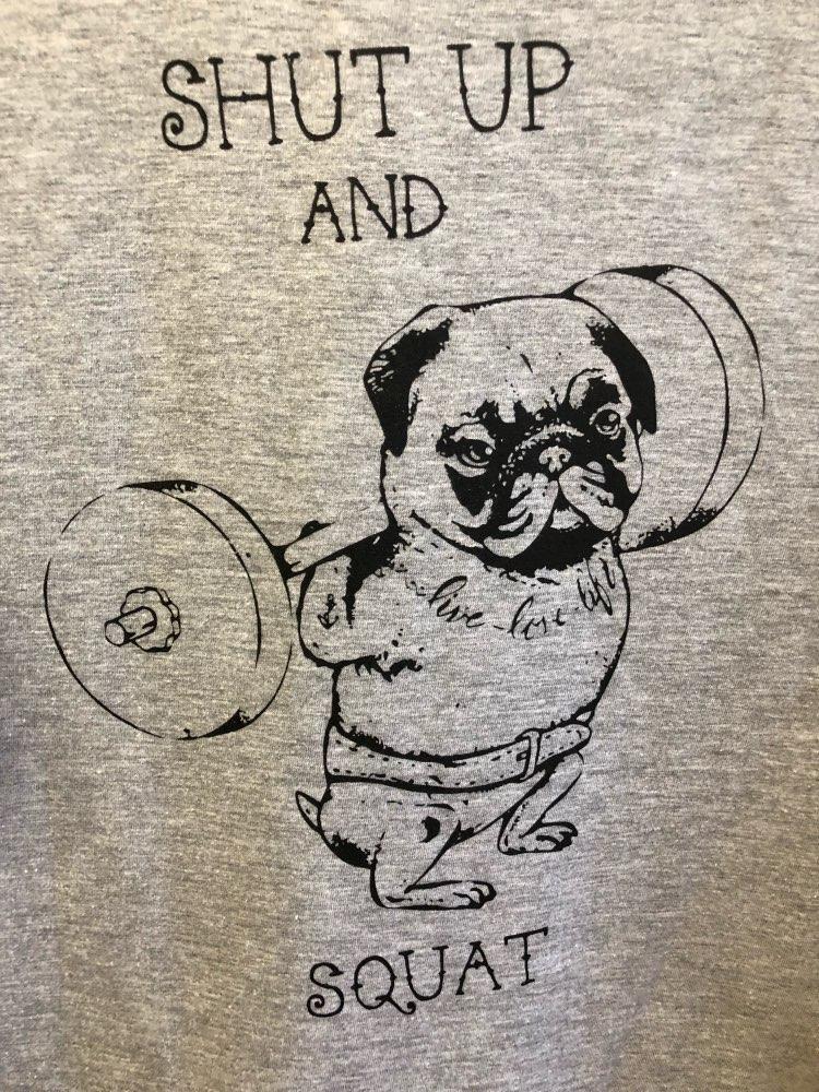 COOLMIND PU0111B 100% хлопок женская футболка повседневные свободные дизайн o-образным вырезом женщин милый мопс Футболка с принтом летняя футболка Милая футболка