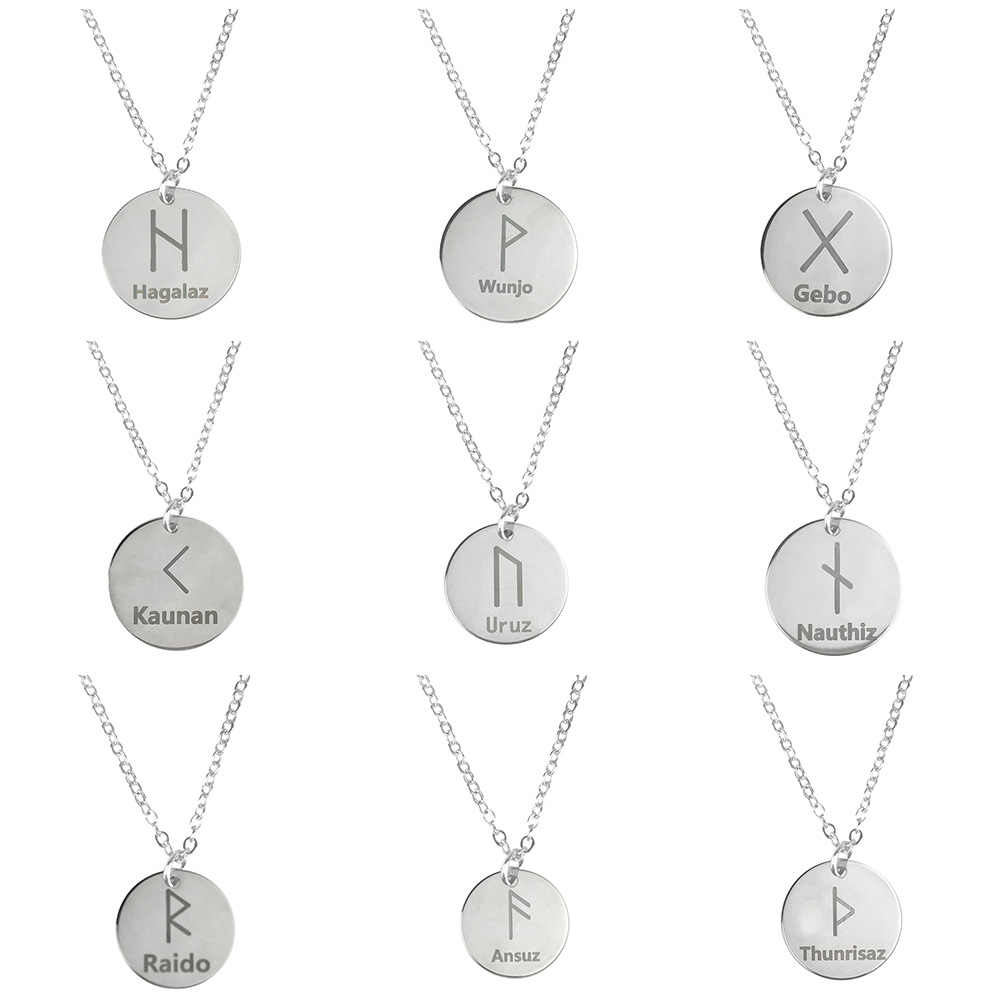 1pcs Nordic Vikings Runes Amulet Pendant Necklace The Tree of Life Runes Unisex Cool Pendant Necklace