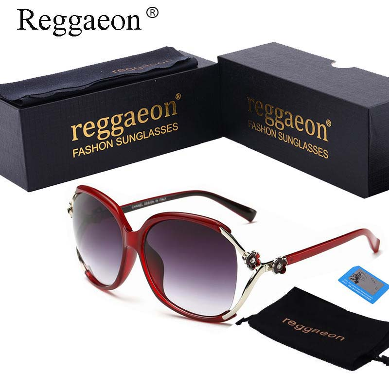 2a4a2120e1 reggaeon 2018 Hot Fashion Brand Designer Polarized Sunglasses Channel  Luxury Big Oversized Frame Sun Glasses for