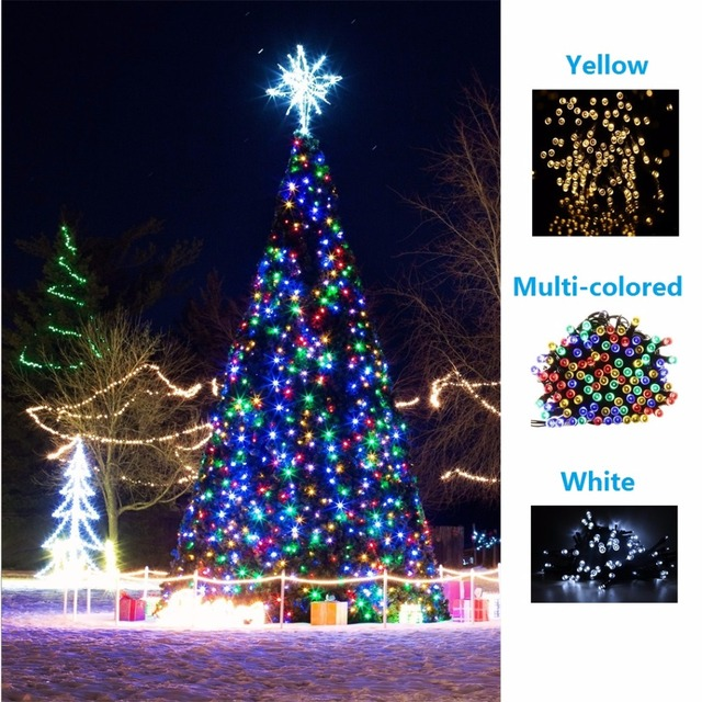 hooree solar string lights 17m fairy christmas bubble crystal ball string light for outdoor xmas tree