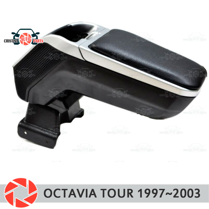 Armrest for Skoda Octavia Tour 1997~2003 car arm rest central console leather storage box ashtray accessories car styling m2 cawanerl 55w h7 car light headlight low beam for bmw 540i 1997 2003 auto hid xenon kit ac no error ballast bulb 3000k 8000k
