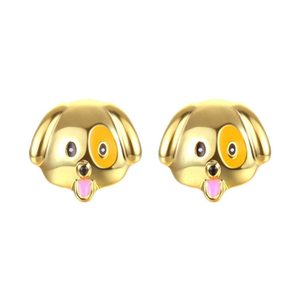 2017 New Fashion Designed Cute Pretty  Colorful  Animal Dog Head Stud Earring  Earrings Puppy Dog Earrings For Women
