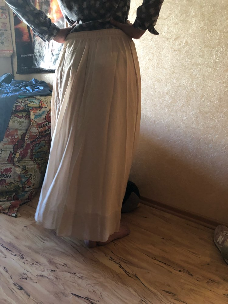 Summer Women Maxi Skirt Two Layer Boho High Wasit Women Long Chiffon Skirt Saias Floor Length Women White Skirt photo review