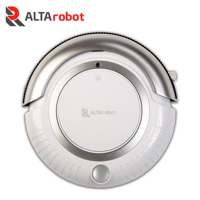 ALTArobot A150 Робот-пылесос, Распознает перепады высоты, Блок для протирки, Сенсоры препятствий, Сенсорная панель с основными кнопками, Контейнер для мусора - 0.2 л