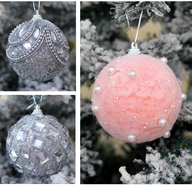 14 inhoo 78cm Merry Christmas Rhinestone Glitter Baubles Balls Christmas Tree Hanging Ornaments Decor foam balls Styrofoam Balls