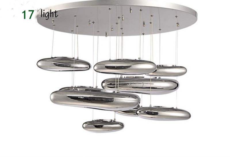 Chrome Mongo Large Pebbles Luxury Mercury Chandelier Water Drops Silver For Hotel Kitchen Bedroom For Decor Suspension Lights