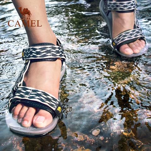 CAMEL Men Women Outdoor Beach Sandals Spring Summer Casual Anti-slip Hiking Trekking Shoes Fishing Sandals Multan