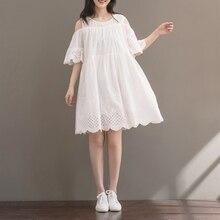 2018 latest summer fashion short sleeve mini white dress for girl