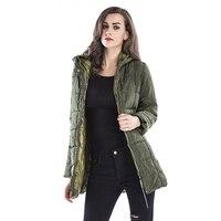 Winter Women Warm Hooded Long Coat Jacket Fashion Cool Parka Outwear Top