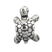 sterling Silver 925 Jewelry African Tortoise Bead Fit European Woman Brand Troll Bracelet &Necklace beads for Jewelry Making